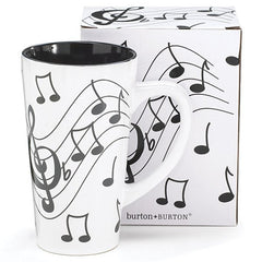 16 oz. Musical Note Ceramic Latte Mug - 4 Pack