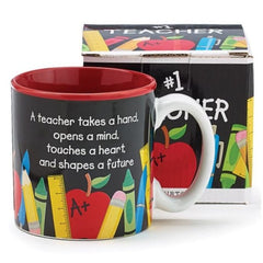 #1 Teacher 12 oz. Ceramic Mug