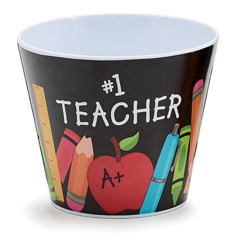 Picture of #1 Teacher Appreciation Melamine Pot Cover - 8 Pack