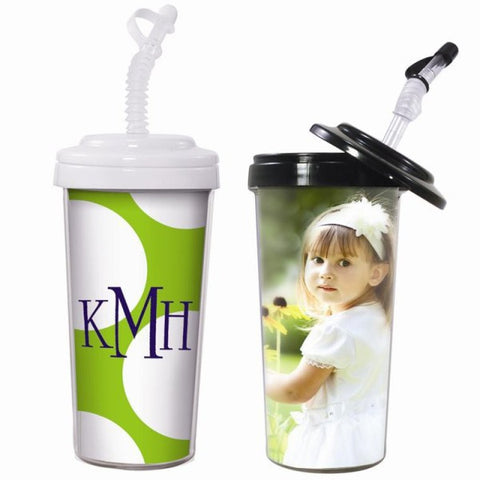 Picture of 20 oz. Travel Tumbler with Bendy Straw - 2 Pack