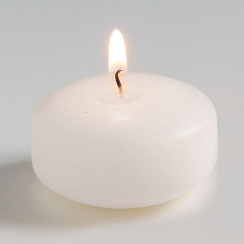 Picture of White Unscented Floating Disk Candles - 12 pack