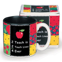 """2 Teach is 2 Touch Lives"" Teachers Coffee Mugs - 6 Pack"