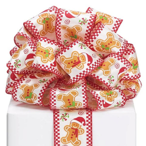 Picture of #40 Gingerbread Man Wired  Ribbon