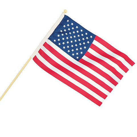 "Picture of 4"" X 6"" American Flags - 12 Pack"