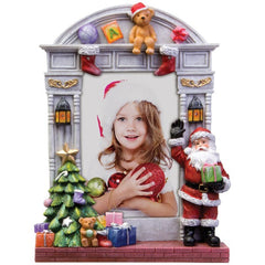 Light Up Christmas Resin Picture Frame