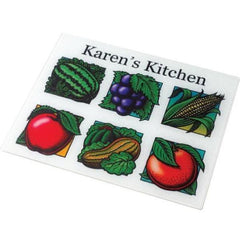 White Fabric Placemat with Six Pictures or Designs
