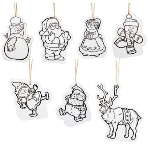 Picture of 7 Piece Color Me Christmas Character Ornament Set