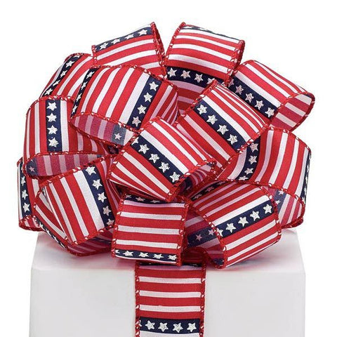 Picture of #9 Stars/Stripes Wired Satin Ribbon
