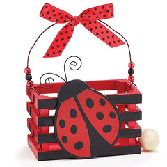 Adorable Ladybug Wood Crate