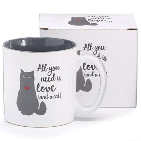 Picture of All You Need Is Love/Cat Ceramic Mugs - 6 Pack
