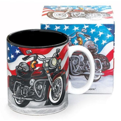Picture of All American Motorcycle Ceramic Mugs - 6 Pack