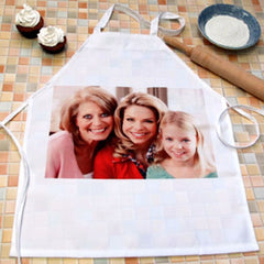 White Apron with Photo Picture