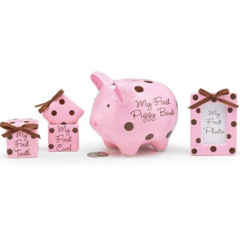 Picture of Baby Girl Pink/Brown Dots Gift Sets - Pack of 2 Sets
