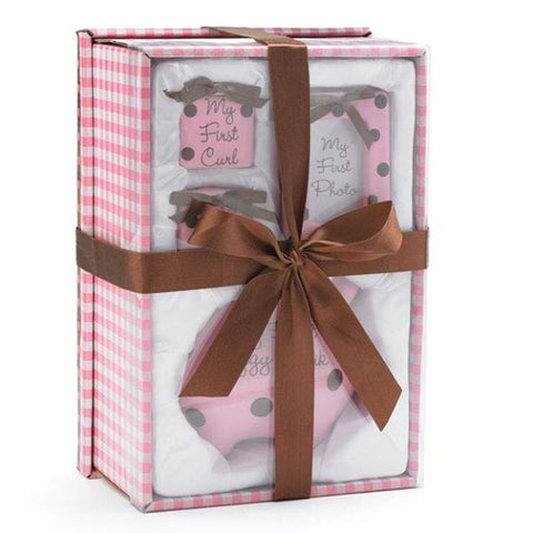 Picture of Baby Girl Pink/Brown Dots Gift Set