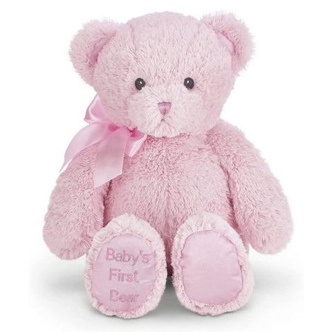 "Picture of Baby's First Bear Plush Stuffed Animal 18"" Pink Teddy"