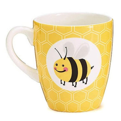 Picture of Bee Buzzed 14 oz. Ceramic Mugs/Cups - 4 Pack