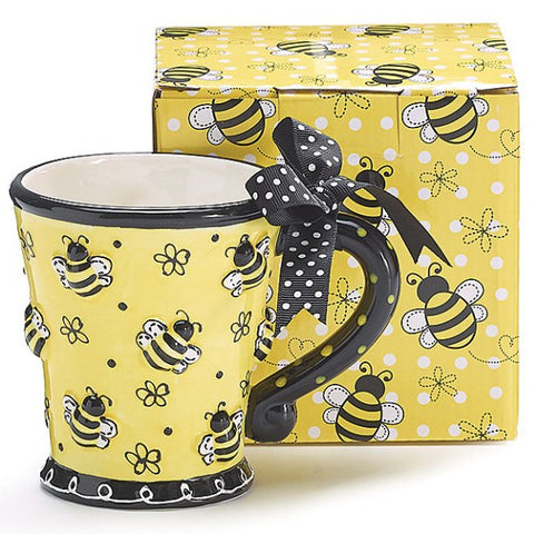 Picture of Bee Days 10 oz. Ceramic Mug with Raised Bees - 4 Pack
