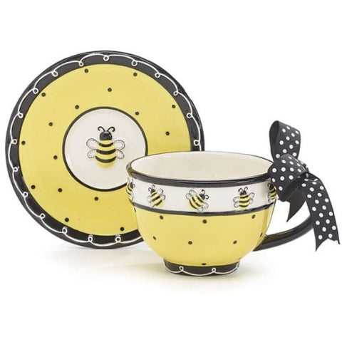 Picture of Bee Days Honey Bumblebee Teacup and Saucer Set