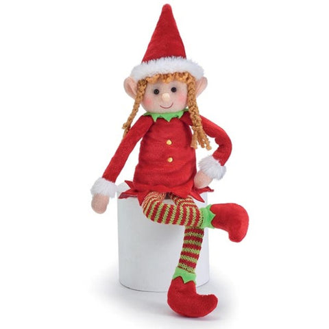 Picture of Bendable Plush Christmas Girl Elf