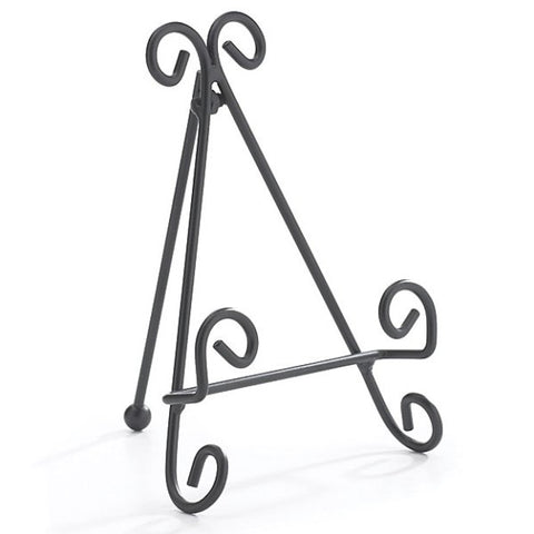 Picture of Black Metal Easel Tile/Slate/Plate Stand Holders - 8 Pack