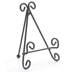 Black Metal Easel Tile/Slate/Plate Stand Holders - 8 Pack