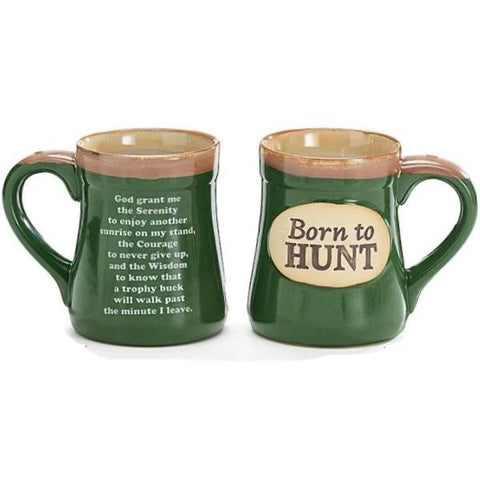 "Picture of ""Born to Hunt"" 18 oz. Coffee Mug with Hunter's Serenity Prayer"