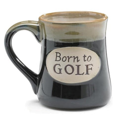 """Born to Golf"" 18 oz. Coffee Mug with Golfer's Serenity Prayer - 4 Pack"