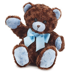 Brown & Blue Plush Teddy Bear