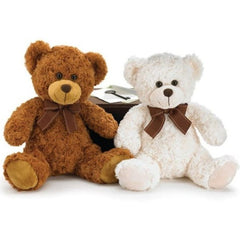 Brown & Cream Plush Teddy Bear Couple