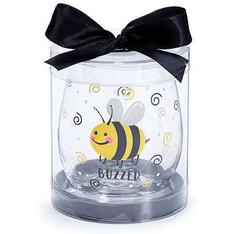 Picture of Buzzed Bee Stemless Wine Glass
