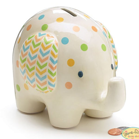 Picture of Ceramic Baby Elephant Bank