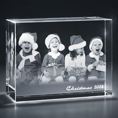 Rectangular Cuboid Full Body 3D Photo Crystal