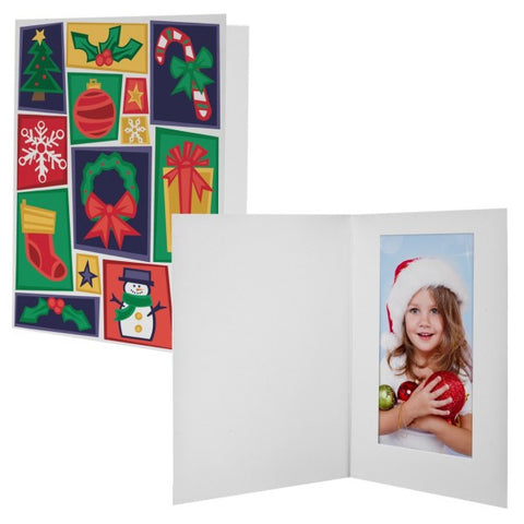 Picture of Christmas Cheer Photo Mount Folders - 12 Pack