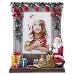 Christmas Light Up Resin Picture Frame