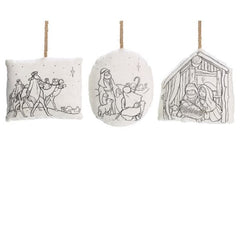 Color Your Own Ornament Christmas Set