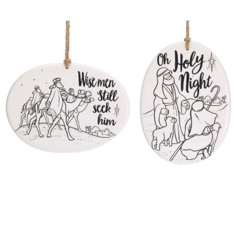 Picture of Color Your Own Wise Men Ornament Set