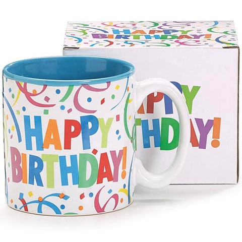 Picture of Colorful Happy Birthday Ceramic Mugs - 6 Pack