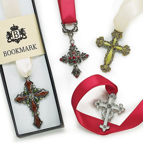 Picture of Cross Ribbon Bookmarks - 4 pc Set