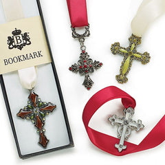 Cross Ribbon Bookmarks - 4 pc Set