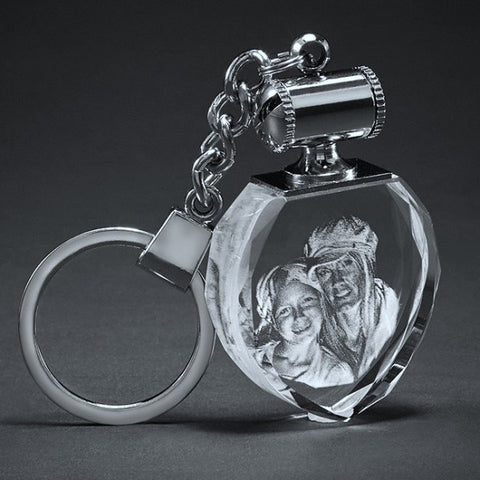 Picture of Crystal Heart Photo Key Chain