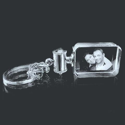 Picture of Crystal Brick Horizontal Photo Key Chain