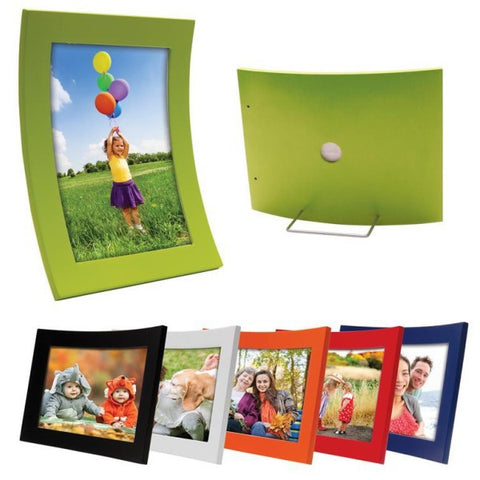 Picture of Curved Wood Color Picture Frames - 6 Pack