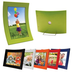 Curved Wood Color Picture Frames - 6 Pack