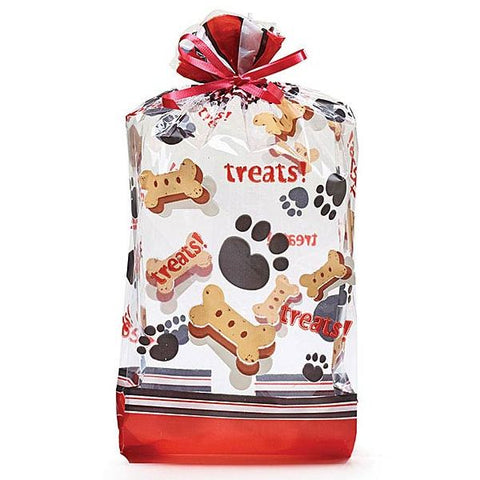 Picture of Dog Treats and Paws Large Cello Bags - 100 Pack