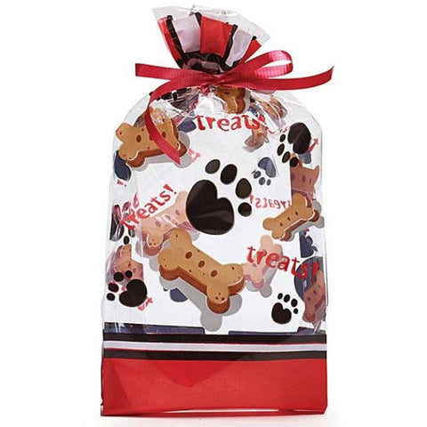 Picture of Dog Treats and Paws Small Cello Bags - 100 Pack