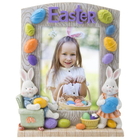 Picture of Easter Bunny Arched Top Resin Picture Frame