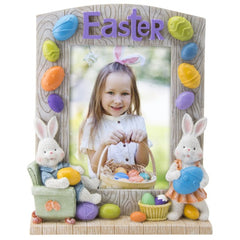 Easter Bunny Arched Top Resin Picture Frame