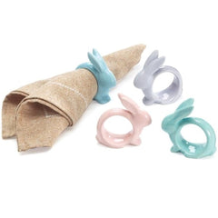 Easter Bunny Pastel Napkin Rings