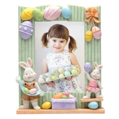 Easter Resin Picture Frame with Bunnies
