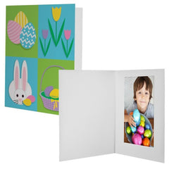 Easter Bunny Quad Photo Mount Folders - 12 Pack